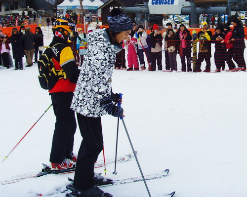Lee Min Ho skiing
