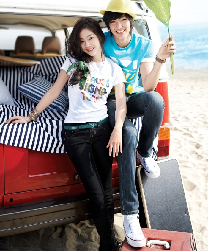 Moon Chae Won & Lee Min Ho for Levi Strauss, Summer '09